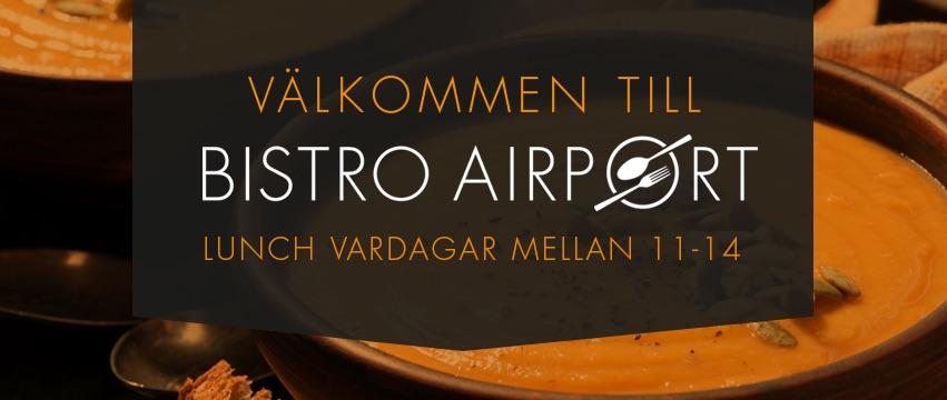 Lunch med lokala råvaror på Karlstad flygplats